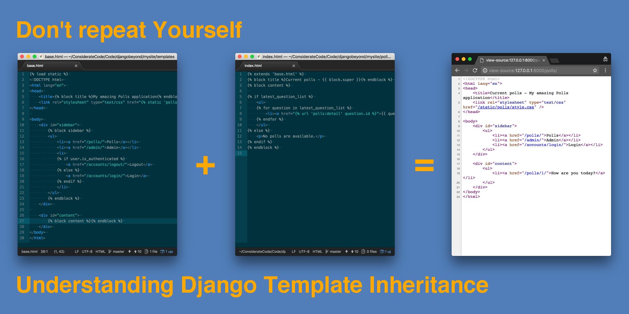 Don\'t repeat Yourself - Understanding Django Template Inheritance ...